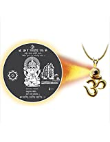 Dijyo Divine Darshan Gold Plated Ganeshji Siddhivinayak Pendant For Unisex