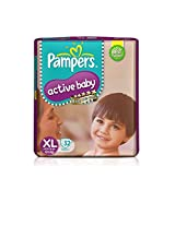 Pampers Active Baby Extra Large Diapers (32 Count)