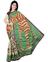 Bhagalpuri Silk Printed Beige Bhagalpuri Silk Saree - SIXVP04A