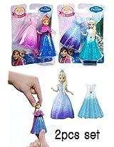 2pcs Set Doll Disney Frozen Magiclip Anna And Elsa