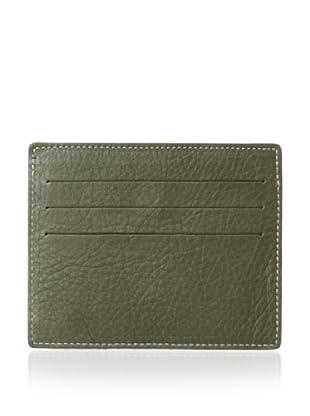 Leone Braconi Men's Nappa Merinos Card Holder (Army Green)