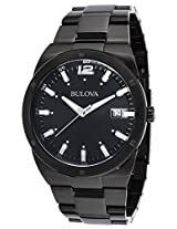 Bulova Classic Analog Black Dial Men's Watch - 98B234