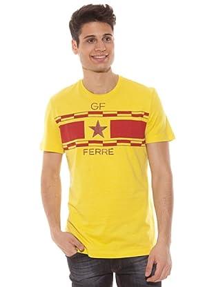 Gianfranco Ferré Camiseta Manga Corta Estampado (Amarillo)