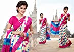 Exotic Cream & Pink Cotton Silk Embroidered Saree