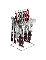 Cook Nook D Cutlery Set, Stainless Steel, Pack of 25 Piece,Brown