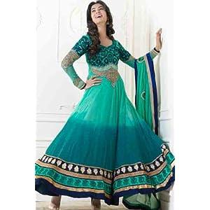 Sonal Chauhan Green Anarkali Suit - SC5010