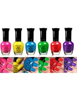 Kleancolor Nail Polish NEON Colors Lot of 6! Lacquer Neon Collection Free Earring Gift