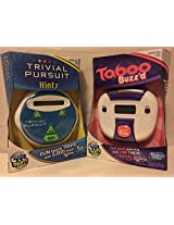 Trivial Pursuit Hints Game & Taboo Buzz'd Game