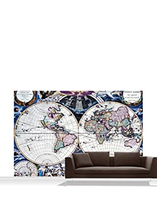 National Maritime Museum Goos Atlas Planisphere Mural, Standard, 12' x 8'