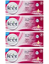 Veet  Supreme Essence Hair Removal Cream - 25 g (Pack of 4)