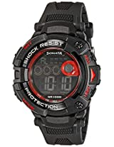 Sonata Digital (BLACK) Dial Men's Watch - 77010PP02