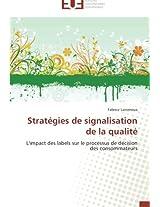 Strategies de Signalisation de La Qualite (Omn.Univ.Europ.)