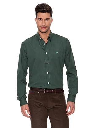 Caramelo Camisa Clásica (Verde)