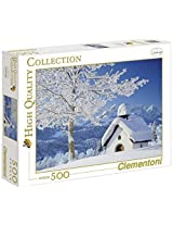 Clementoni: White Alpen 500 Pieces Puzzle By Clementoni