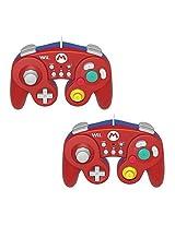 Hori 2 Packs Wii/Wii U Controller Wired Classic Controller Mario