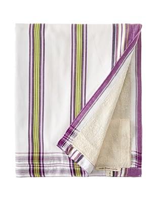 Nomadic Thread Society Surf Sarong Towel (White/Lime/Purple)