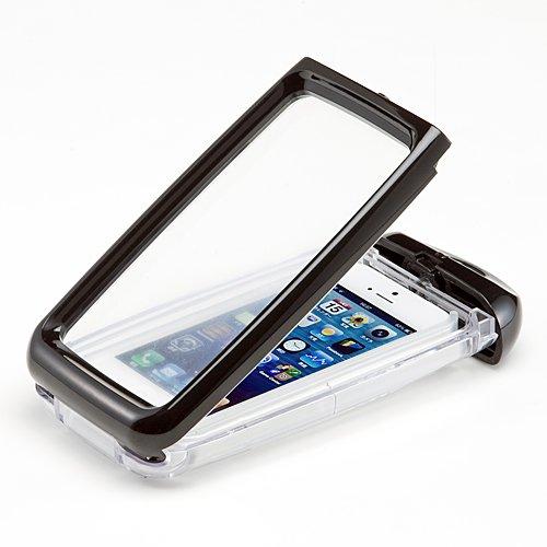 サンワダイレクト iPhone5防水ハードケース iPhone5 ケース 防水ケース ストラップ付 ブラック 200-PDA110BK
