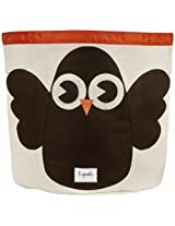 "3 Sprouts Storage Bin, Owl, 17.5"" height X 17"" diameter"