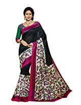Black Color Art Bahgalpur Silk Saree with Blouse 12523