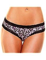 Foil Booty Short - Leopard Print (ML)
