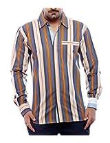 Moksh Men's Striped Casual Shirt V2IMS0414-228 (Large)