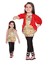 Be: Kids Baby Girls Jacket With Top And Legging Set (SKU316-B-1-2Years_Red_1-2Years)
