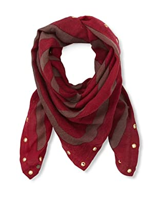 Moio Women's Daho Amy Square Scarf (Rubis)