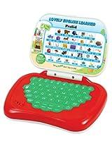 Prasid Lovely English Learner Kids Laptop, Red/Green