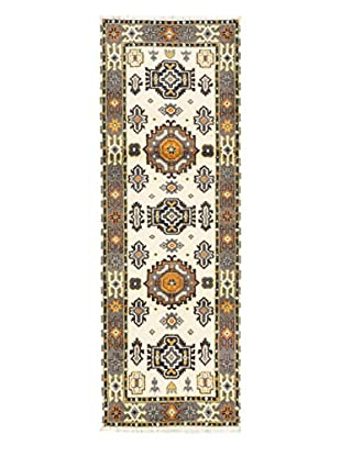Hand-Knotted Royal Kazak Rug, Cream, 2' 10