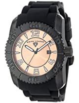 Swiss Legend Men's 20068-BB-09 Commander Collection Black Ion-Plated Rose Dial Watch