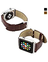 Snugg™ Apple Watch Genuine Leather Strap (Brown) - 42mm Wrist Strap for the Apple Watch