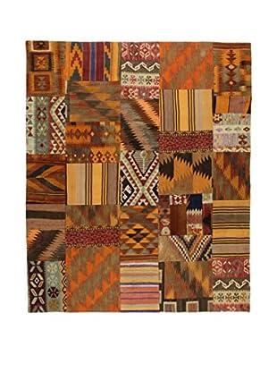 Eden Teppich Kilim Patch Work braun/mehrfarbig 199 x 238 cm