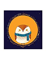 Circle Owl Orange Print