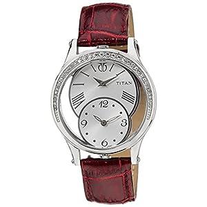 Titan Purple Analog Silver Dial Women's Watch - NE9923SL01J