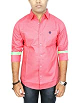AA' Southbay Men's Tomato Printed Cotton Long Sleeve Casual Shirt