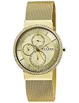 Skagen End-of-Season Analog Gold Dial Women Watch - 357XLGG