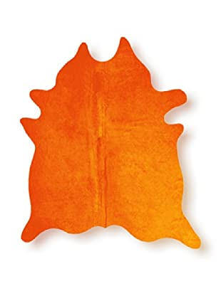 Natural Brand Geneva Cowhide Rug, Orange, 7' x 5' 5