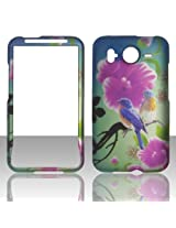 2D Twin Birds HTC Inspire 4G Desire HD G10 (UK Canada) AT&T Case Cover Hard Phone Case Snap-on Cover Rubberized Touch Faceplates