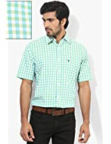 Green Slim Fit Casual Shirt Allen Solly