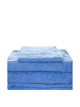 Masala Home Juego de Toallas 4 Piezas (Azul)