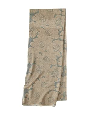 Raj Imports Women's Flower Scarf (Tan)