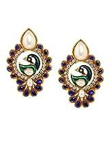 Bindhani Traditional Blue Peacock Earrings For Women