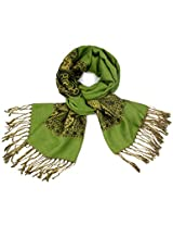 Dahlia Women's Pashmina Scarf - Indian Motifs - Green