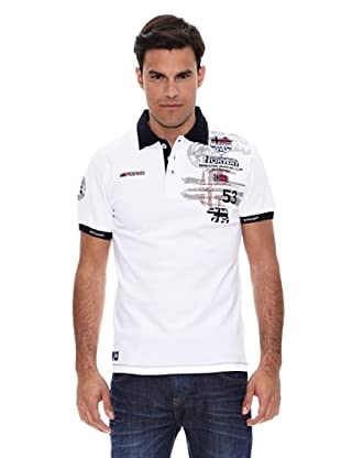 Geographical Norway Polo Manga Corta Karite (Blanco)