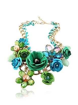 Chamay Halskette  grün/blau