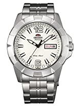 Orient White Dial Analogue Watch for Men (SEM7L005W9)