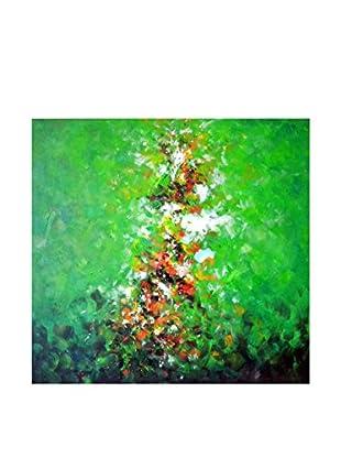 Legendarte Pintura al Óleo sobre Linezo Saetta colorata multicolor