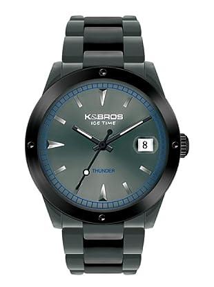 K&BROS 9556-3 / Reloj Unisex con correa de caucho gris