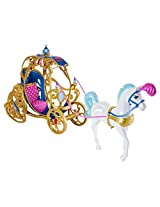 Cinderellas Horse And Carriage With Cinderella Glitter N Lights Doll Bundle Set