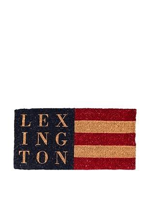 Lexington Company Felpudo Bandera (Natural / Marino)